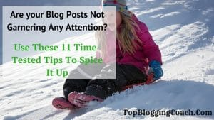 Are your Blog Posts Not Garnering Any Attention? Use These Time Tested Tips To Spice It Up
